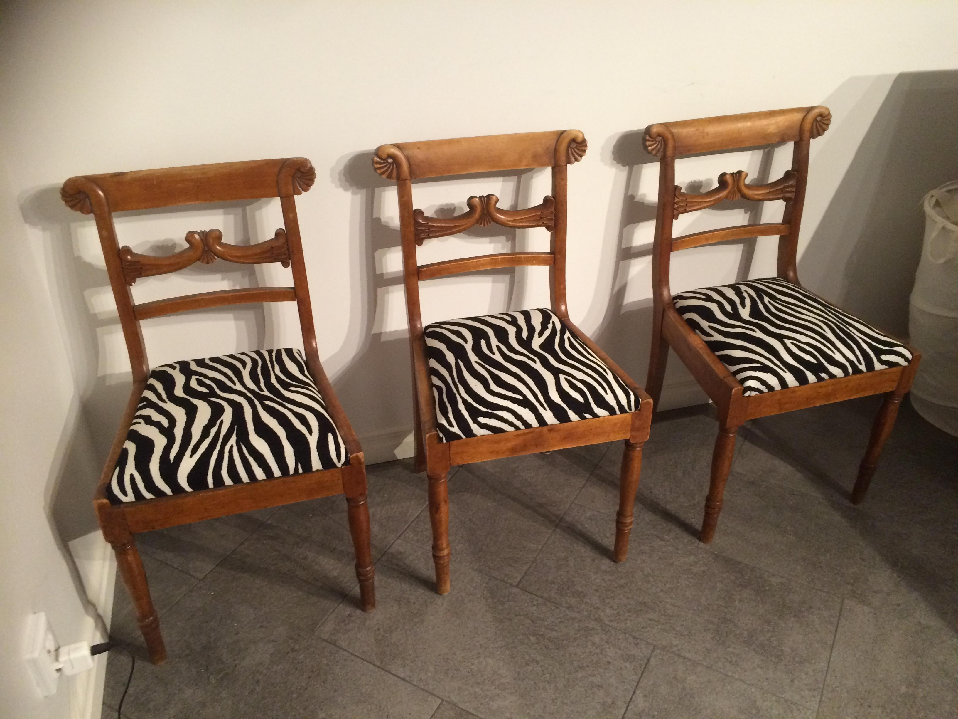 klädda stolar säljes